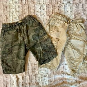 Set of 2 Union Bay Boys Cargo Shorts S6 Drawstring